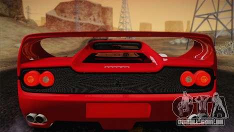 Ferrari F50 1995 para GTA San Andreas vista interior