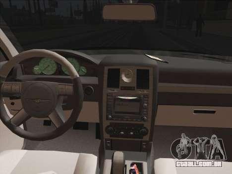 Chrysler 300C 2009 para vista lateral GTA San Andreas