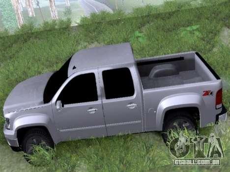 GMC Sierra SLT para GTA San Andreas traseira esquerda vista