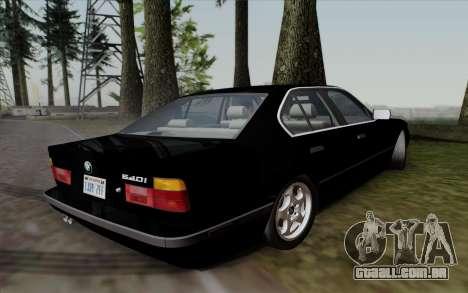 BMW 540i (E34) para GTA San Andreas traseira esquerda vista