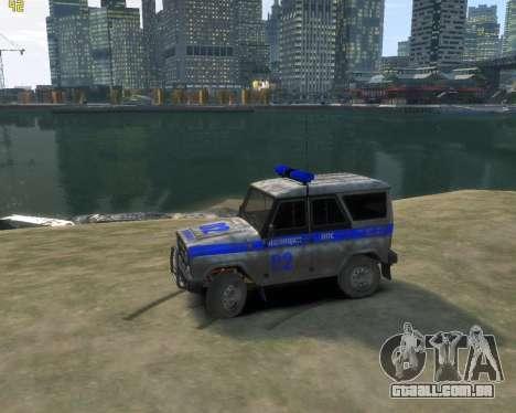 UAZ 315195 Caçador de Polícia para GTA 4 esquerda vista