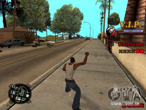 C-HUD VIP para GTA San Andreas quinto tela