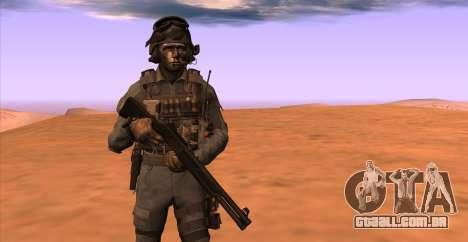 Tenente David Hesh Walker из Call Of Duty: Ghost para GTA San Andreas