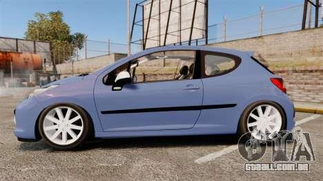 Peugeot 207 RC para GTA 4 esquerda vista