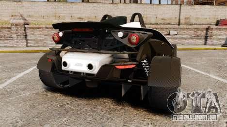 KTM X-Bow R para GTA 4 traseira esquerda vista