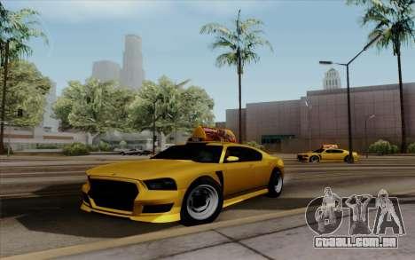 Buffalo Taxi para GTA San Andreas traseira esquerda vista