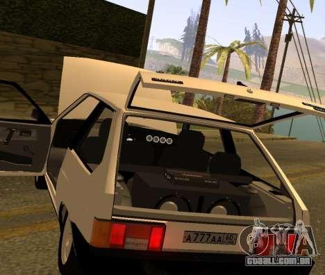 ВАЗ 2108 GVR Versão 2.0 para GTA San Andreas vista traseira