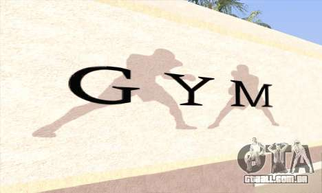 New gym para GTA San Andreas segunda tela