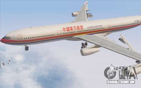 Airbus A340-300 China Eastern para GTA San Andreas vista superior