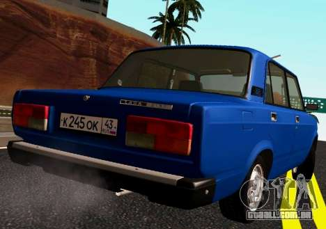 VAZ-2107 Riva para GTA San Andreas traseira esquerda vista