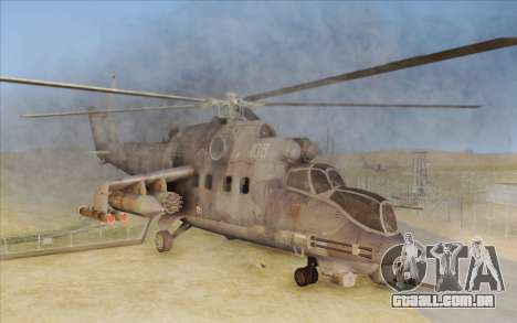 Mi-24D Hind from Modern Warfare 2 para GTA San Andreas
