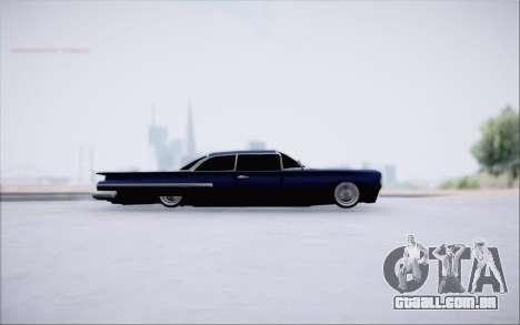 Voodoo Low Car v.1 para GTA San Andreas traseira esquerda vista