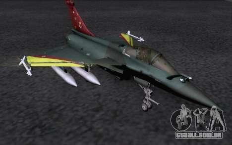 Dassault Rafale M para GTA San Andreas vista traseira