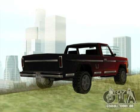 O Novo Jeep (Yosemite) para GTA San Andreas traseira esquerda vista