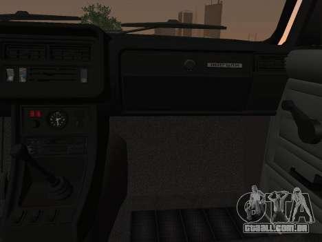 VAZ-2107 para GTA San Andreas vista interior