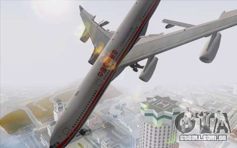 Airbus A340-300 China Eastern para GTA San Andreas esquerda vista