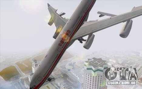 Airbus A340-300 China Eastern para GTA San Andreas esquerda vista
