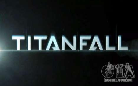 Arranque telas e menus Titanfall para GTA San Andreas