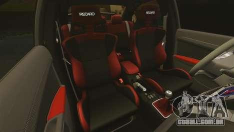 Mitsubishi Lancer Evolution X FQ400 para GTA 4 vista inferior