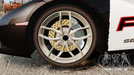 Lamborghini Huracan Cop [Non-ELS] para GTA 4 vista de volta
