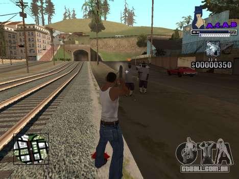 C-HUD new A.C.A.B para GTA San Andreas por diante tela