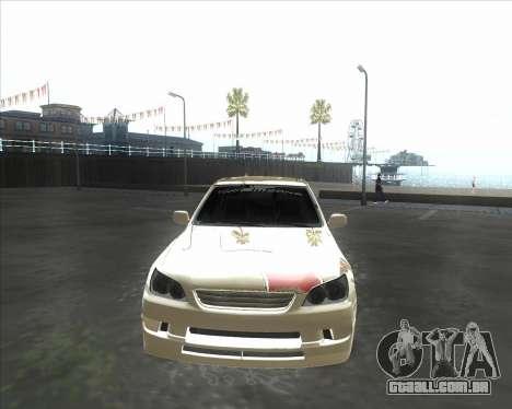 Lexus IS300 Tuneable para GTA San Andreas esquerda vista