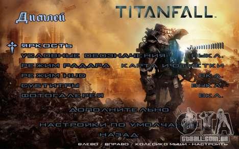 Arranque telas e menus Titanfall para GTA San Andreas quinto tela