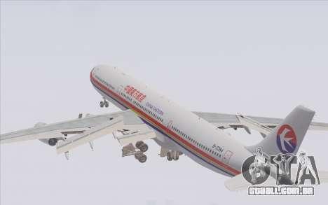 Airbus A340-300 China Eastern para o motor de GTA San Andreas