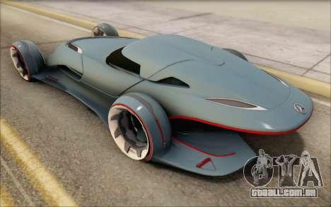 Mercedes-Benz SilverArrow para GTA San Andreas vista traseira