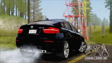 BMW X6M E71 2013 300M Wheels para GTA San Andreas vista direita