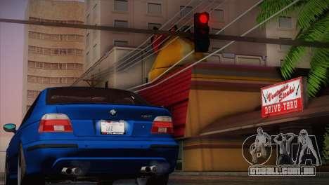 BMW E39 M5 2003 para GTA San Andreas esquerda vista
