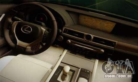 Lexus GS350 F Sport Series IV Police 2013 para GTA San Andreas traseira esquerda vista