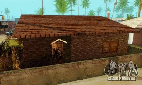 Novas texturas da casa de Denis para GTA San Andreas por diante tela