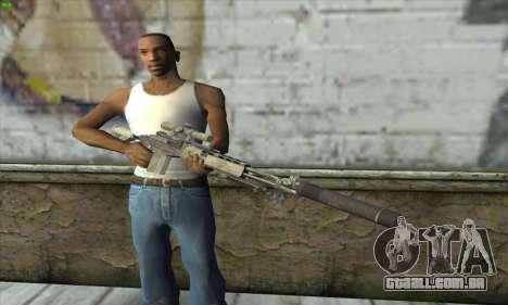Sniper Rifle из MW2 para GTA San Andreas terceira tela