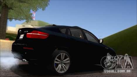 BMW X6M E71 2013 300M Wheels para vista lateral GTA San Andreas