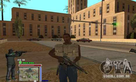 C-HUD Grove by Krutoyses para GTA San Andreas terceira tela