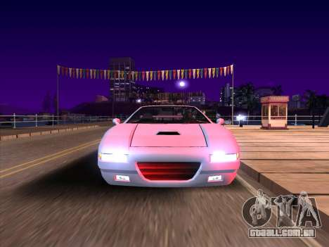 New Infernus para GTA San Andreas esquerda vista