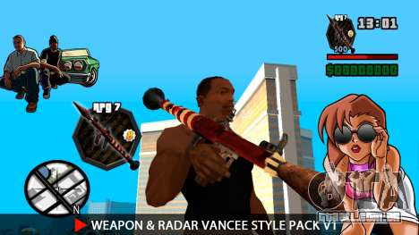 Arma & Radar VanCee Estilo Pack v1 para GTA San Andreas nono tela