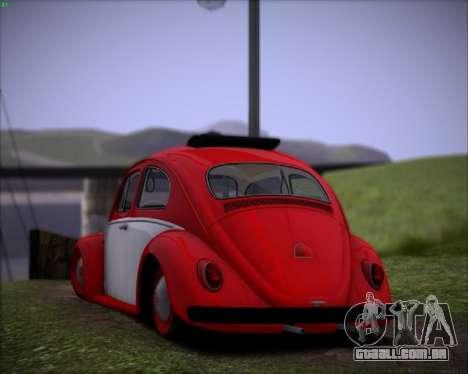 Volkswagen Beetle Stance para GTA San Andreas vista direita