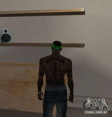 Novas bandanas, por CJ para GTA San Andreas segunda tela