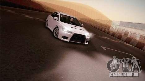 Mitsubishi Lancer Evolution para GTA San Andreas traseira esquerda vista