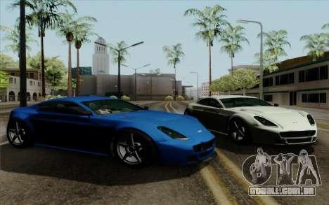 Rapid GT para GTA San Andreas traseira esquerda vista