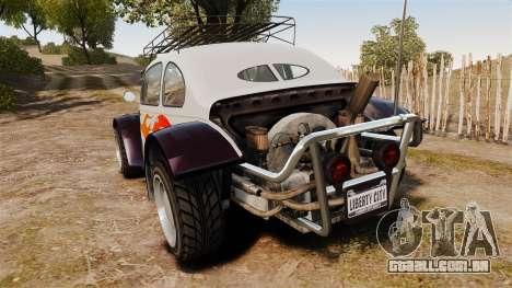 GTA V BF Injection para GTA 4 traseira esquerda vista