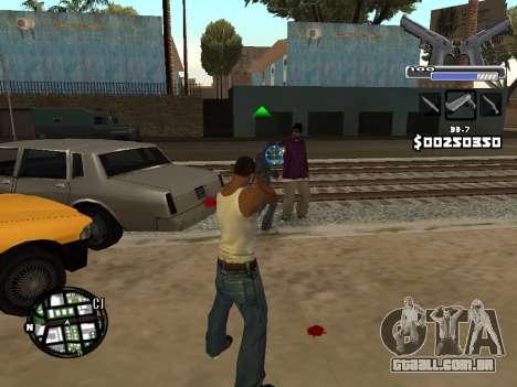 C-HUD Deagle para GTA San Andreas por diante tela