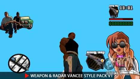 Arma & Radar VanCee Estilo Pack v1 para GTA San Andreas por diante tela