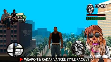 Arma & Radar VanCee Estilo Pack v1 para GTA San Andreas segunda tela