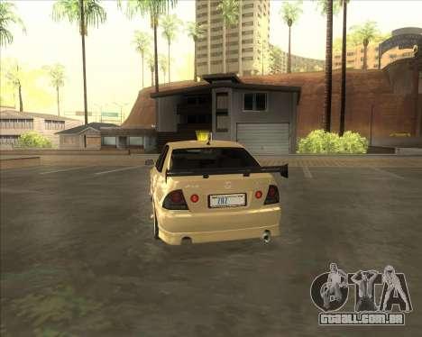 Lexus IS300 Tuneable para GTA San Andreas vista direita