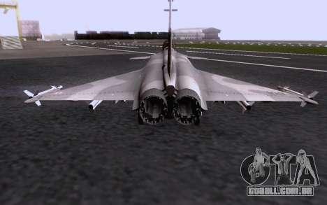 Dassault Rafale M para GTA San Andreas vista inferior