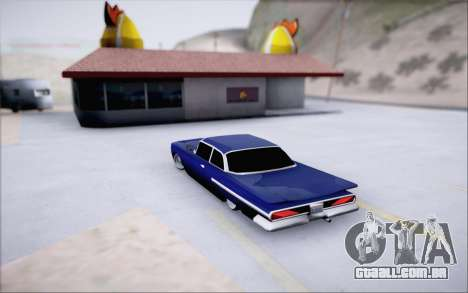 Voodoo Low Car v.1 para GTA San Andreas vista traseira
