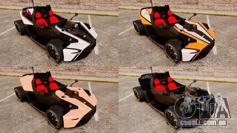 KTM X-Bow R para GTA 4 vista lateral